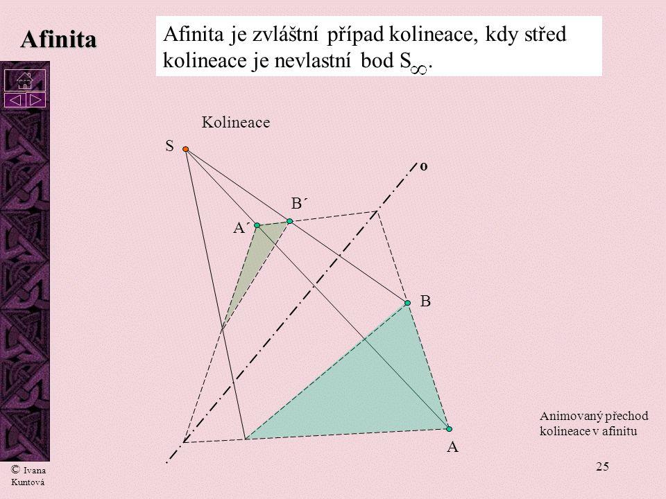 24 Máme-li sestrojit v bodě T tečnu k elipse, můžeme sestrojit tečnu ke kružnici a tečnu k elipse sestrojit pomocí afinity. Osu afinity s výhodou volí
