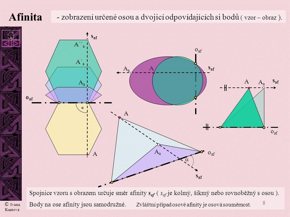 7 Volné rovnoběžné promítání – pravidelný pětiúhelník SkSk rkrk k a5a5 a 10 a6a6 a5a5 Přesná konstrukce ke zjištění strany pravidelného pětiúhelníka v
