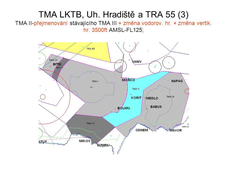 TMA LKTB, Uh. Hradiště a TRA 55 (3) TMA II-přejmenování stávajícího TMA III + změna vodorov.