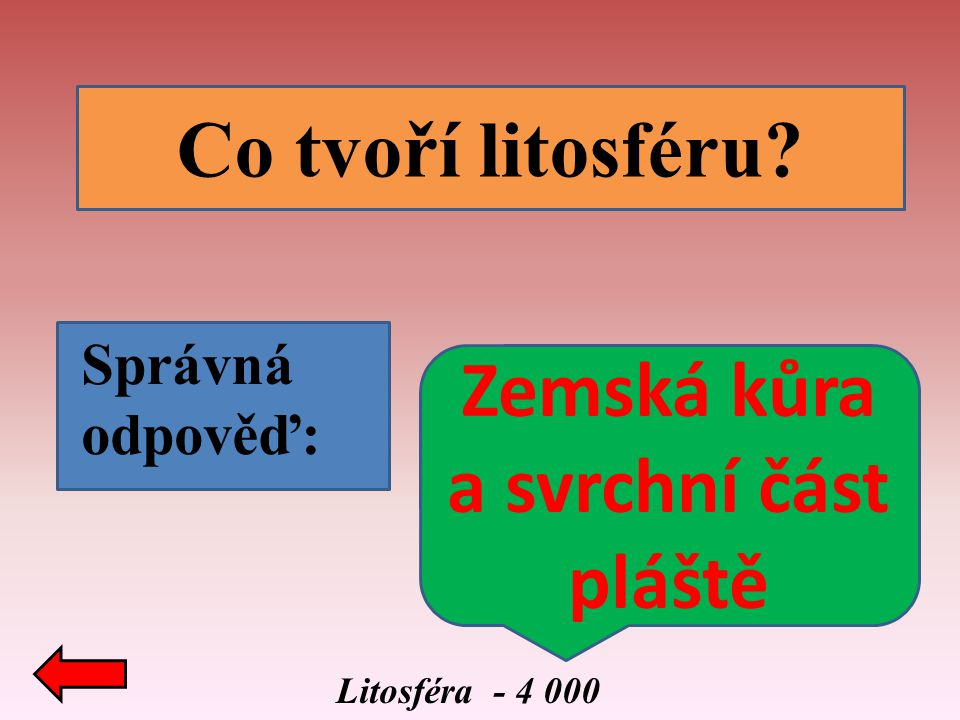 Litosféra - 5 000 Jak vznikají pohoří? Správná odpověď: Působením vnitřních geologických sil