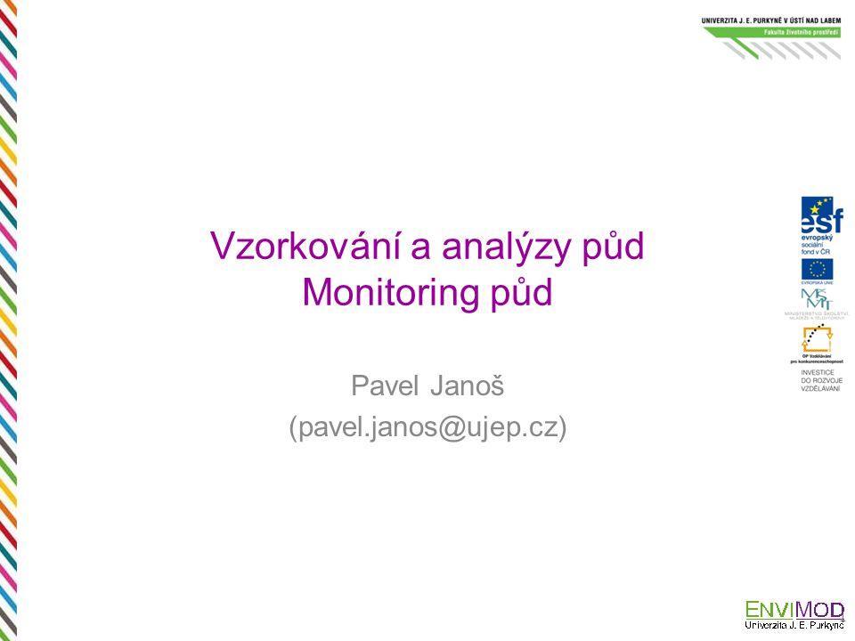 Vzorkování a analýzy půd Monitoring půd Pavel Janoš (pavel.janos@ujep.cz) 1