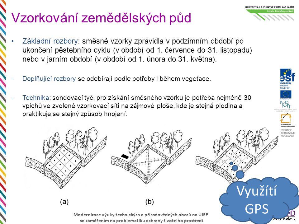 Modernizace výuky technických a přírodovědných oborů na UJEP se zaměřením na problematiku ochrany životního prostředí Základní rozbory: směsné vzorky