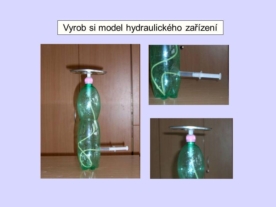 Vyrob si model hydraulického zařízení