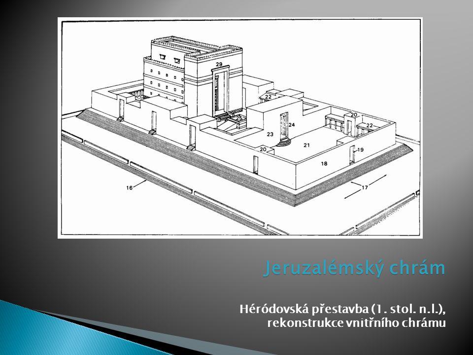 Jeruzalémský chrám Héródovská přestavba (1. stol. n.l.), rekonstrukce vnitřního chrámu