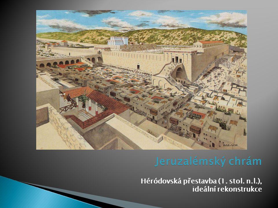 Jeruzalémský chrám Héródovská přestavba (1. stol. n.l.), ideální rekonstrukce