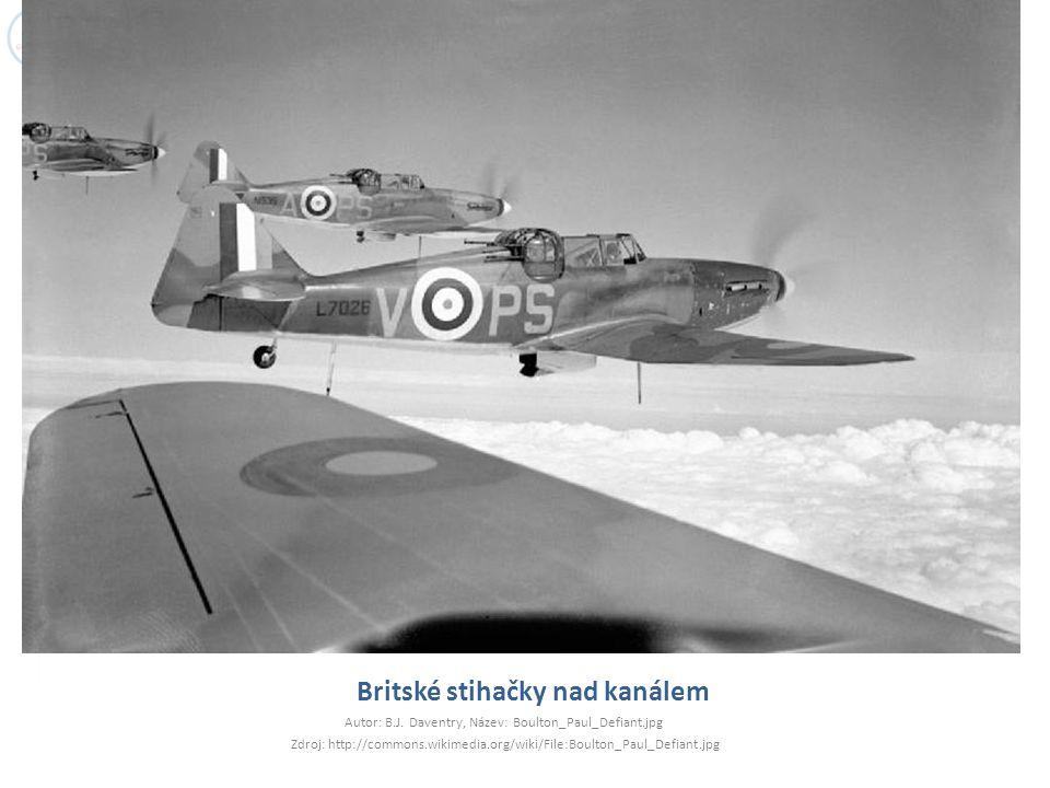 Britské stihačky nad kanálem Autor: B.J.