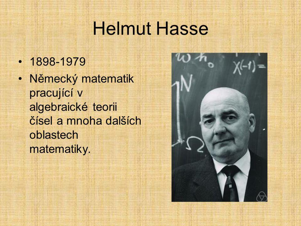 Hasseův diagram V matematické disciplíně teorie uspořádání se používá Hasseův diagram (pojmenovaný po Helmutu Hasseovi) k zobrazení konečné částečně u