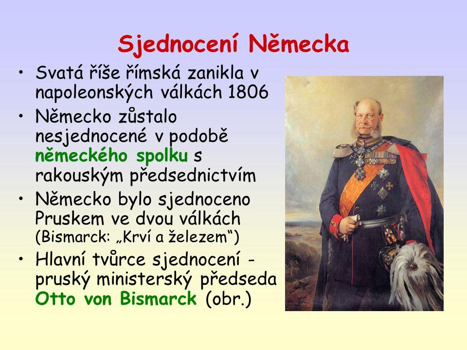 1.fáze: prusko-dánská válka 1864 připojení Šlesvicka-Holštýnska 2.