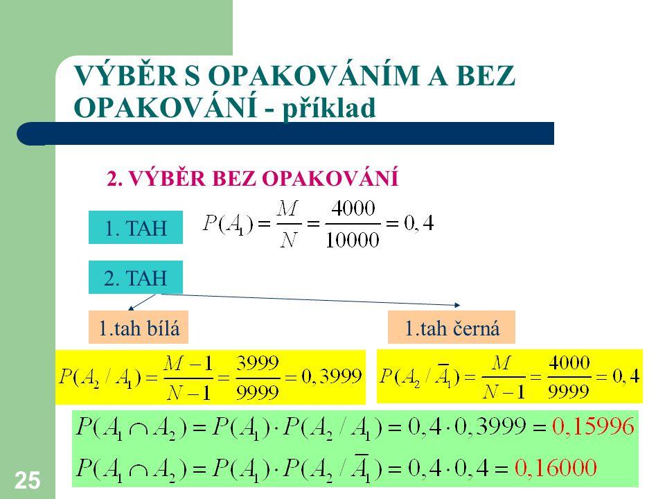 25 VÝBĚR S OPAKOVÁNÍM A BEZ OPAKOVÁNÍ - příklad 2.