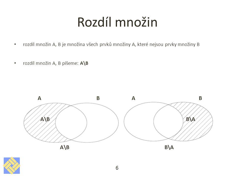 Příklady na rozdíl množin 7