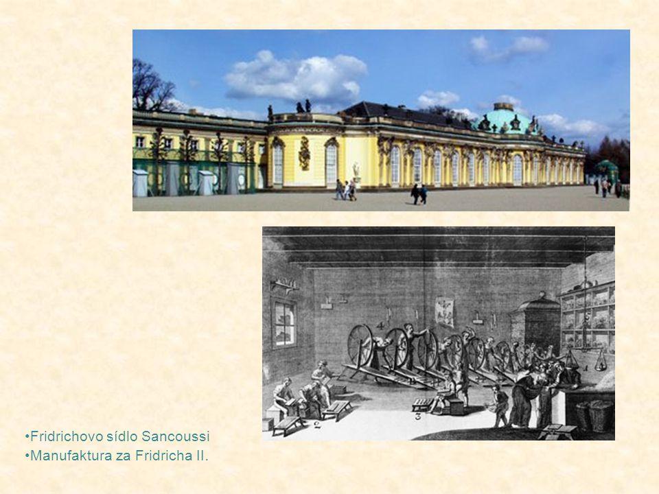 Fridrichovo sídlo Sancoussi Manufaktura za Fridricha II.