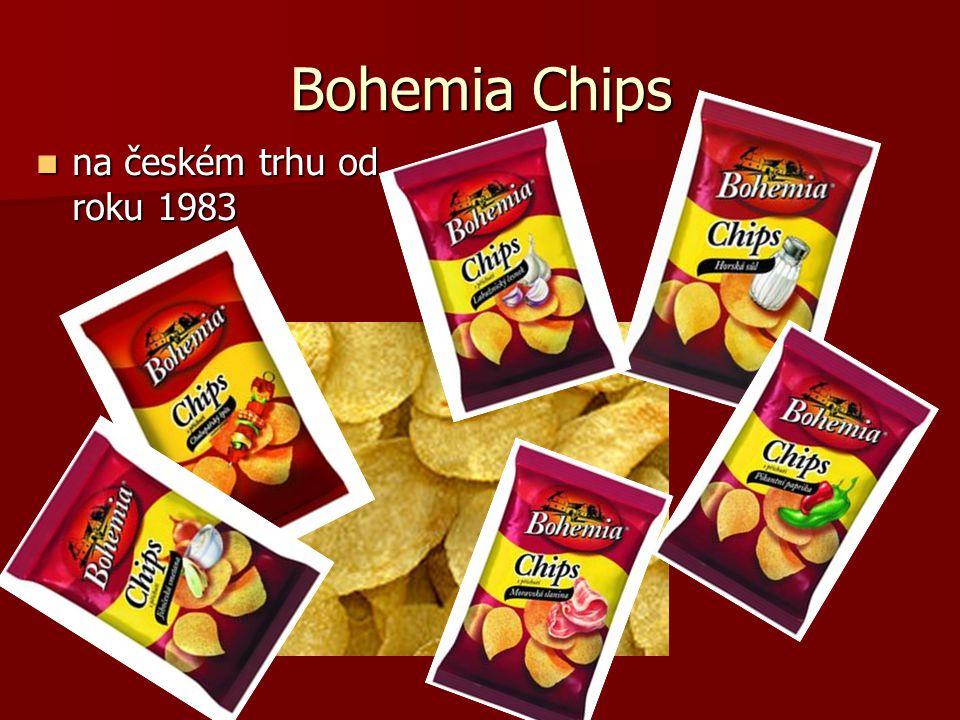 Bohemia Chips na českém trhu od roku 1983 na českém trhu od roku 1983