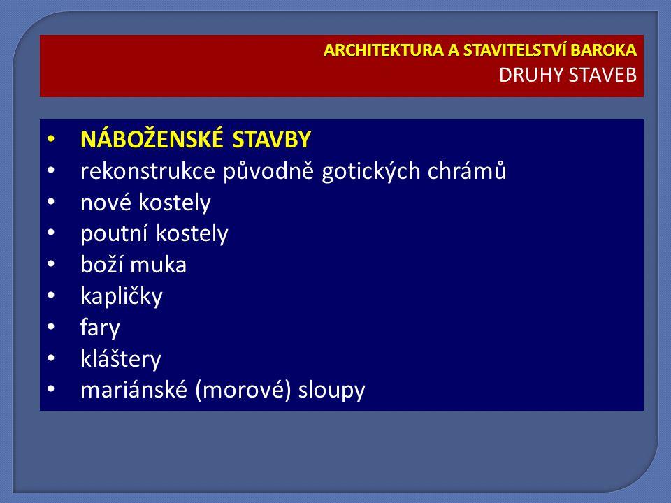 ARCHITEKTURA A STAVITELSTVÍ BAROKA KOSTEL SV.