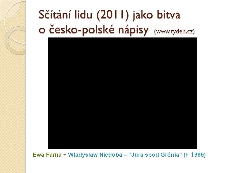 """Sčítání lidu (2011) jako bitva o česko-polské nápisy (www.tyden.cz) Ewa Farna + Władysław Niedoba – """"Jura spod Grónia"""" ( t 1 999)"""