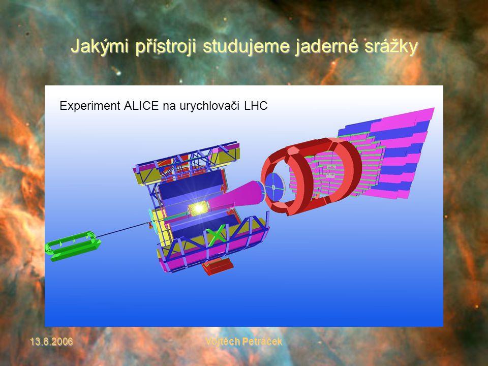 13.6.2006Vojtěch Petráček Jakými přístroji studujeme jaderné srážky Experiment ALICE na urychlovači LHC