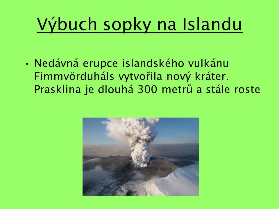 Výbuch sopky na Islandu Nedávná erupce islandského vulkánu Fimmvörduháls vytvořila nový kráter.