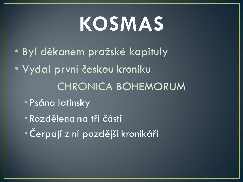 Zakládací listina pochází z roku 1115 V klášteře pochován český kníže VLADISLAV I.