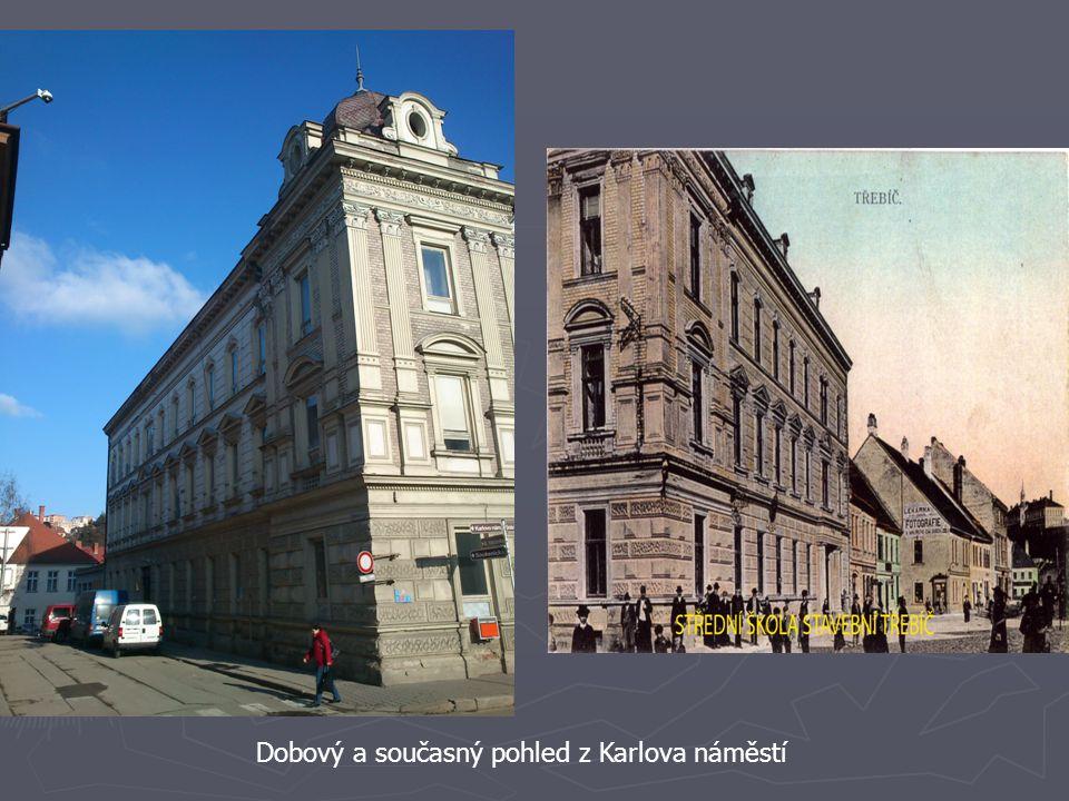 Dobový a současný pohled z Karlova náměstí