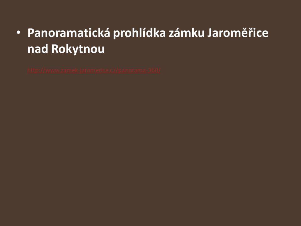 Panoramatická prohlídka zámku Jaroměřice nad Rokytnou http://www.zamek-jaromerice.cz/panorama-360/