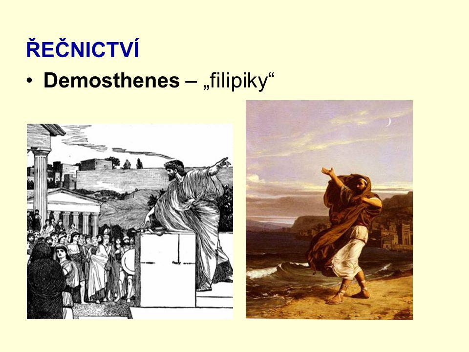 """ŘEČNICTVÍ Demosthenes – """"filipiky"""""""