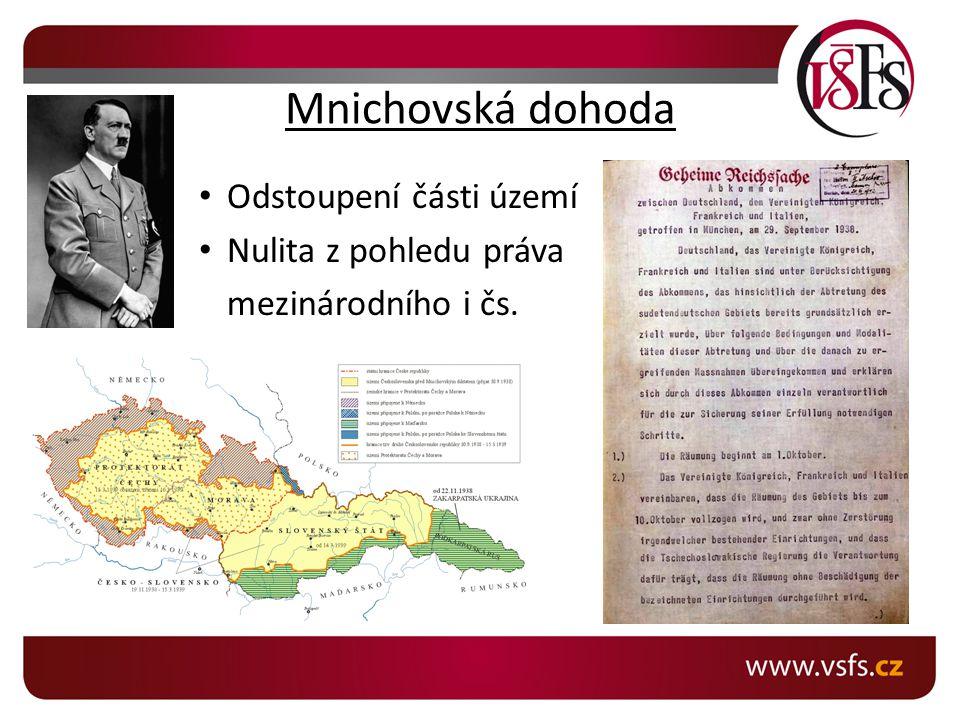 Protektorát Čechy a Morava Přechodné období tzv.