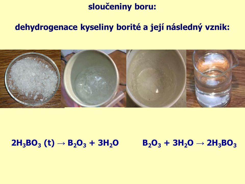 struktura sloučenin: B2O3B2O3 H 3 BO 3