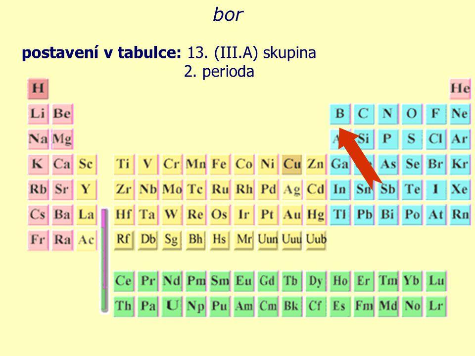 úplná elektronová konfigurace: B 5 E vyberte správnou elektronovou konfiguraci boru: EE