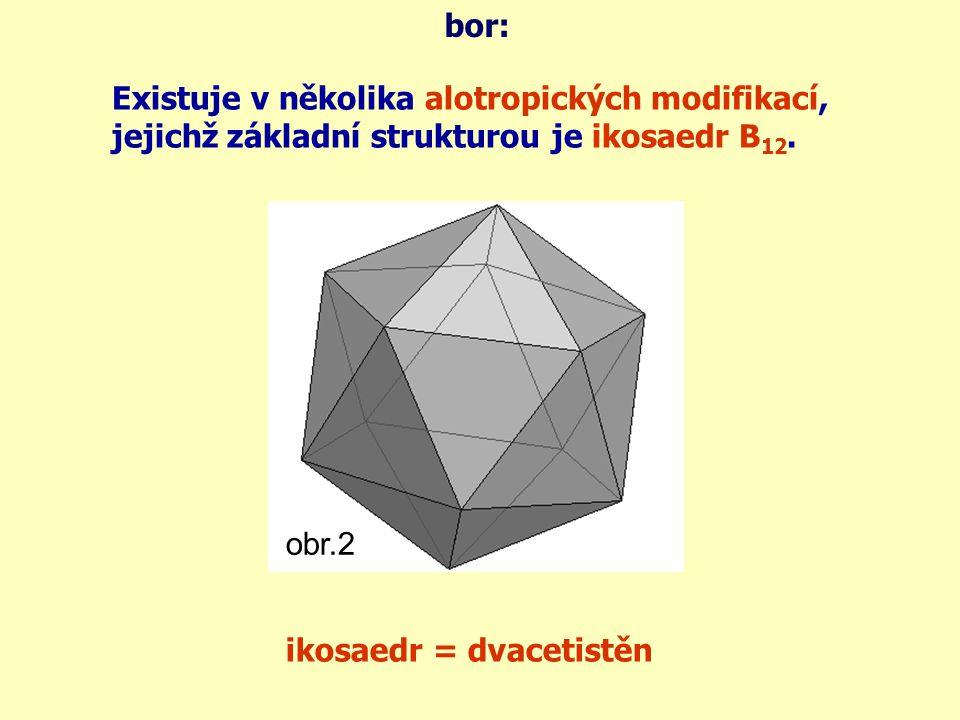 sloučeniny boru: Významnými sloučeninami boru jsou borax a kyselina boritá.