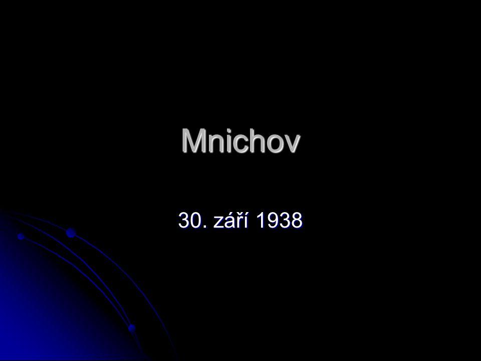Mnichov 30. září 1938