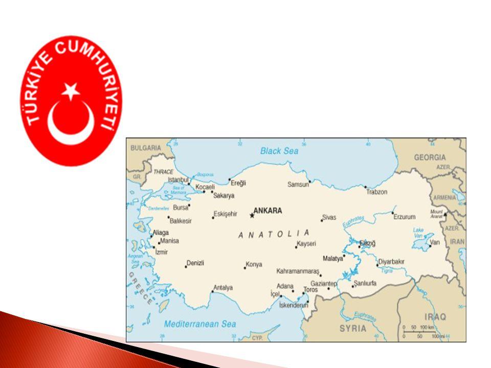  Turecká republika (Türkiye Cumhuriyeti)  Hlavní město – Ankara  Počet obyvatel: 75 627 384  Gramotnost: 94 % celkové populace  Národnostní složení: Oficiální statistiky neuvádějí.