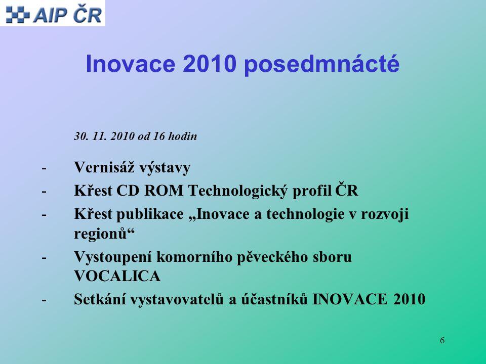 6 Inovace 2010 posedmnácté 30. 11.
