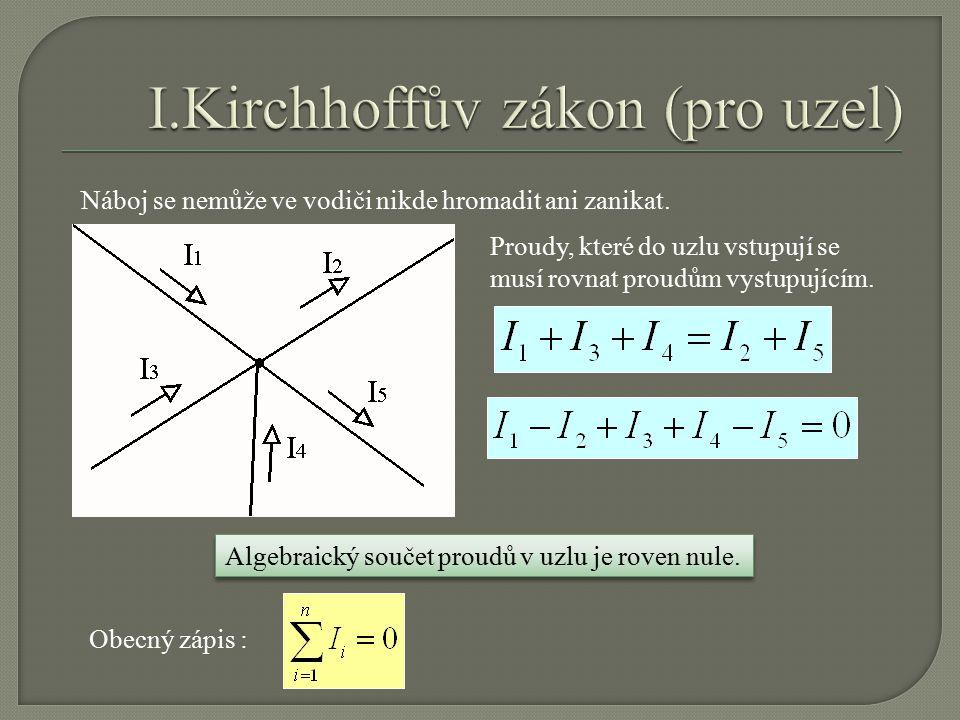 Úkol : n-tý Jaký odpor zařadit do série s voltmetrem, aby voltmetr ukazoval n-tý díl ze svorkového napětí U .