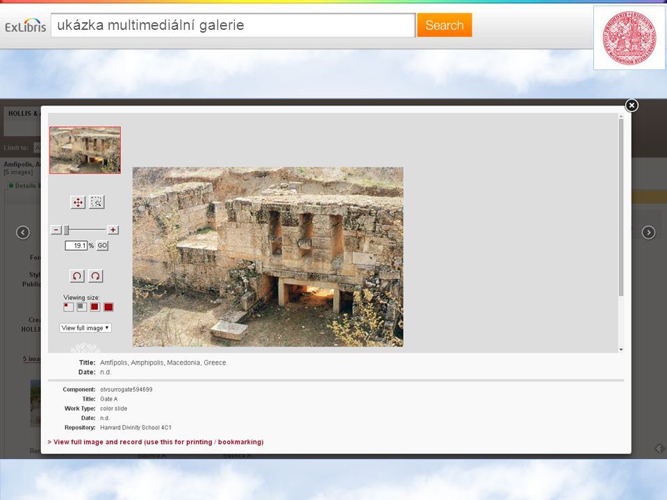 ukázka multimediální galerie