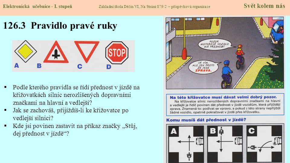 126.4 Jednoduché křižovatky Elektronická učebnice - I.