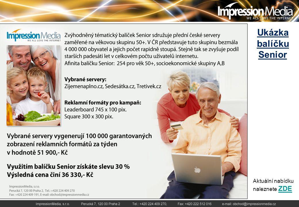 Ukázka balíčku Senior Aktuální nabídku naleznete ZDEZDE