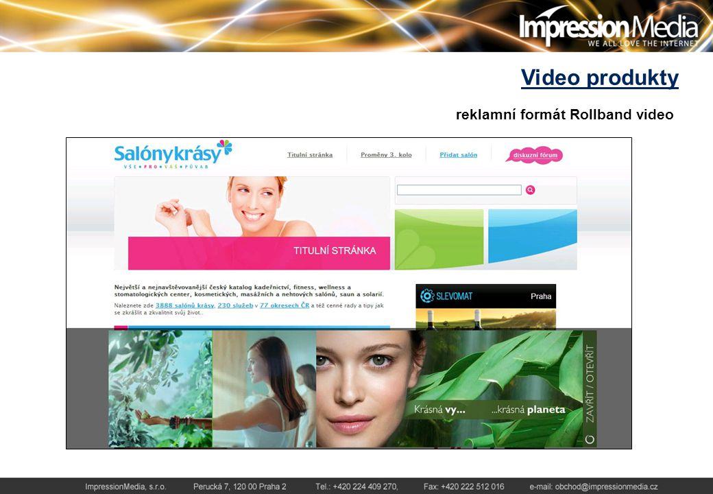 Video produkty reklamní formát Rollband video