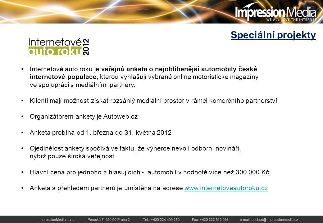 Speciální projekty Internetové auto roku je veřejná anketa o nejoblíbenější automobily české internetové populace, kterou vyhlašují vybrané online motoristické magazíny ve spolupráci s mediálními partnery.