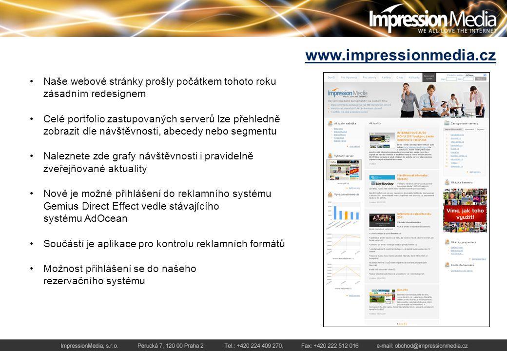 Produktové balíčky Vzhledem k velkému množství serverů v portfoliu Impression Media nabízíme tematické a cenově zvýhodněné balíčky.