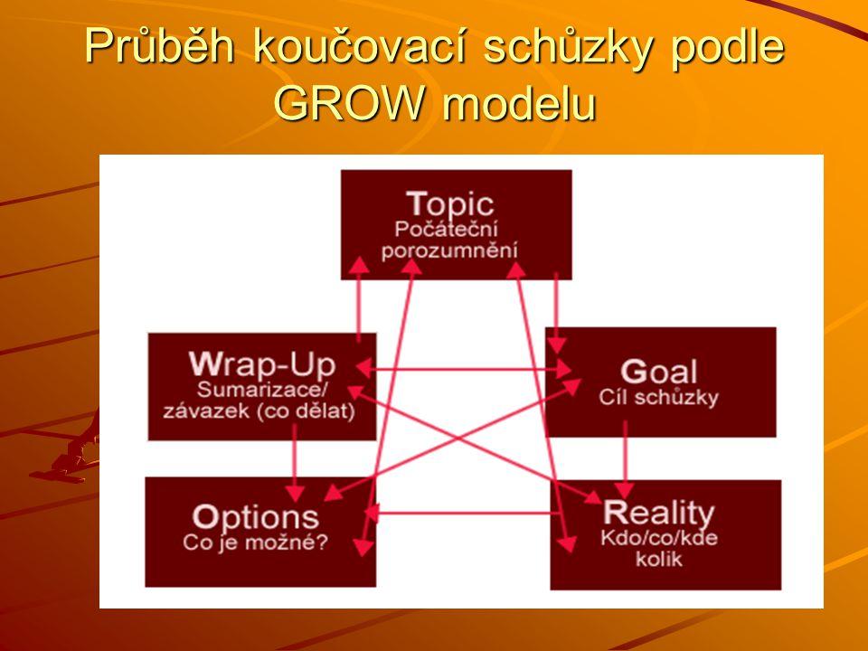 Průběh koučovací schůzky podle GROW modelu