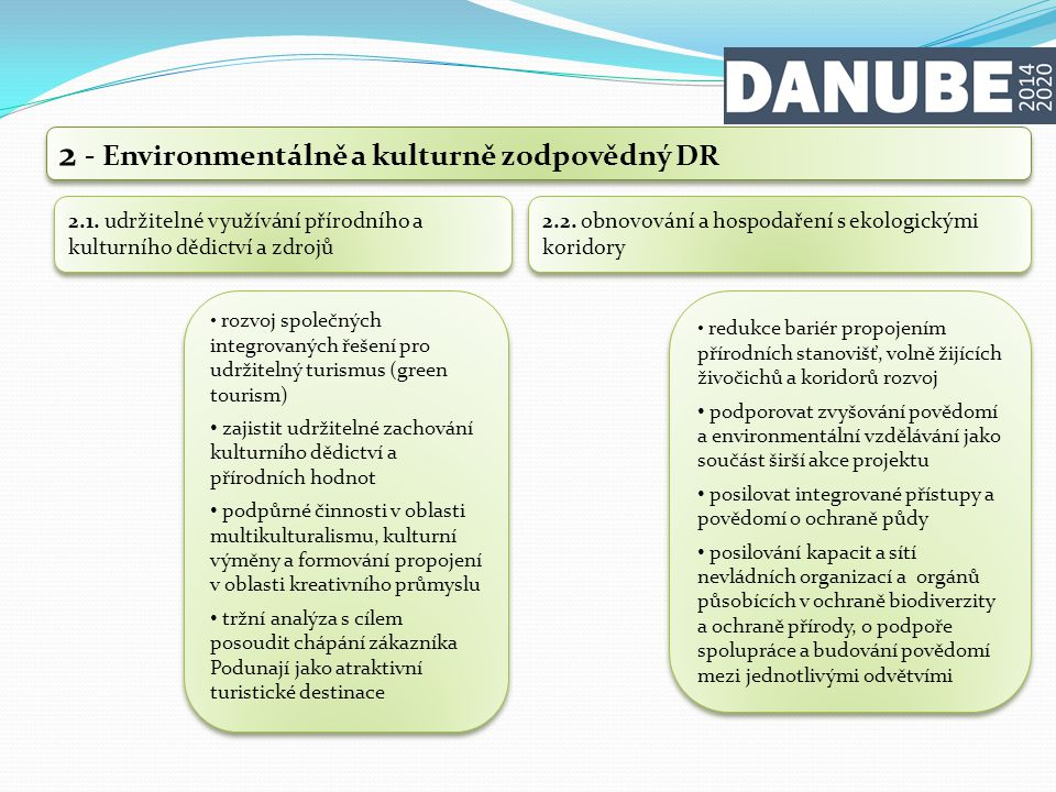 2 - Environmentálně a kulturně zodpovědný DR 2.3.
