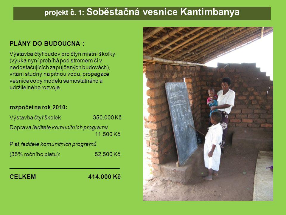 PLÁNY DO BUDOUCNA : Výstavba čtyř budov pro čtyři místní školky (výuka nyní probíhá pod stromem či v nedostačujících zapůjčených budovách), vrtání studny na pitnou vodu, propagace vesnice coby modelu samostatného a udržitelného rozvoje.
