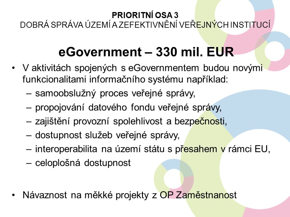 eGovernment – 330 mil.
