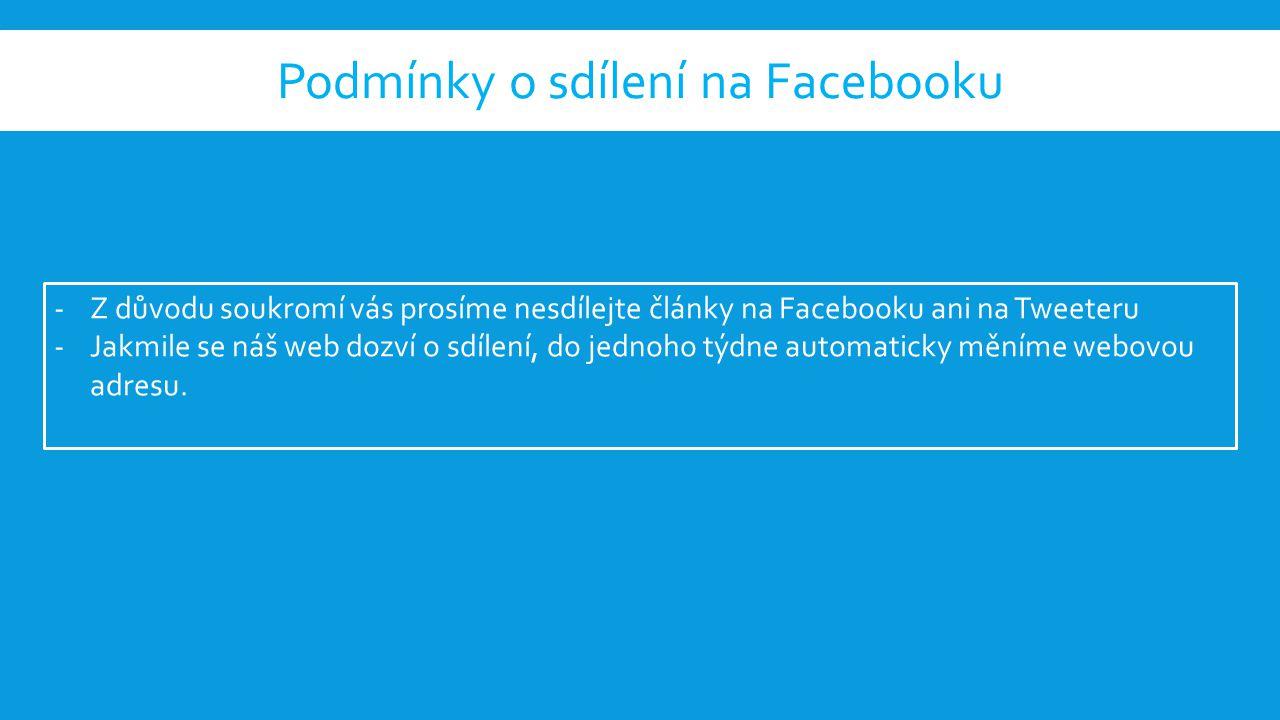 Nyní zde přibila možnost sdílení na Facebooku (to se mi líbí), na Tweeteru a Google.