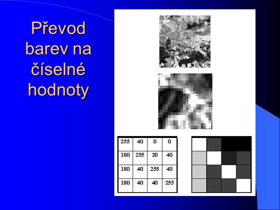 Data na monitoru mohou být vizualizována jako: 1.Černobílý obraz 2.