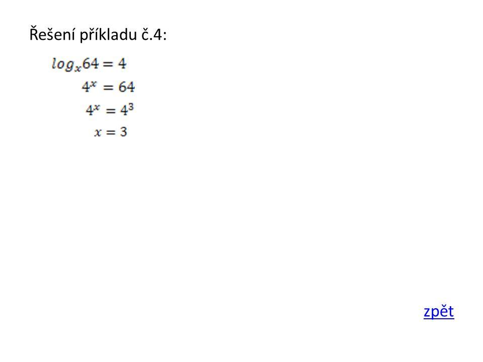 Řešení příkladu č.4: zpět