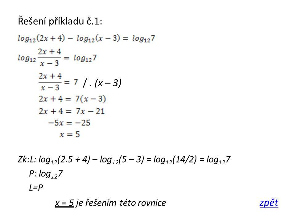 Řešení příkladu č.1: /.