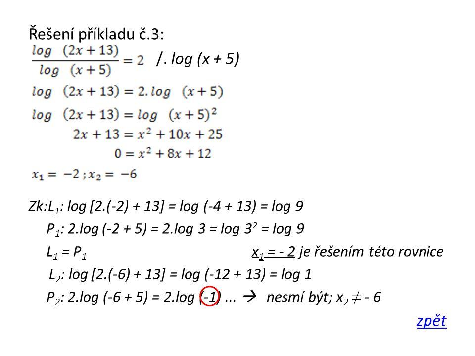 Řešení příkladu č.3: /.