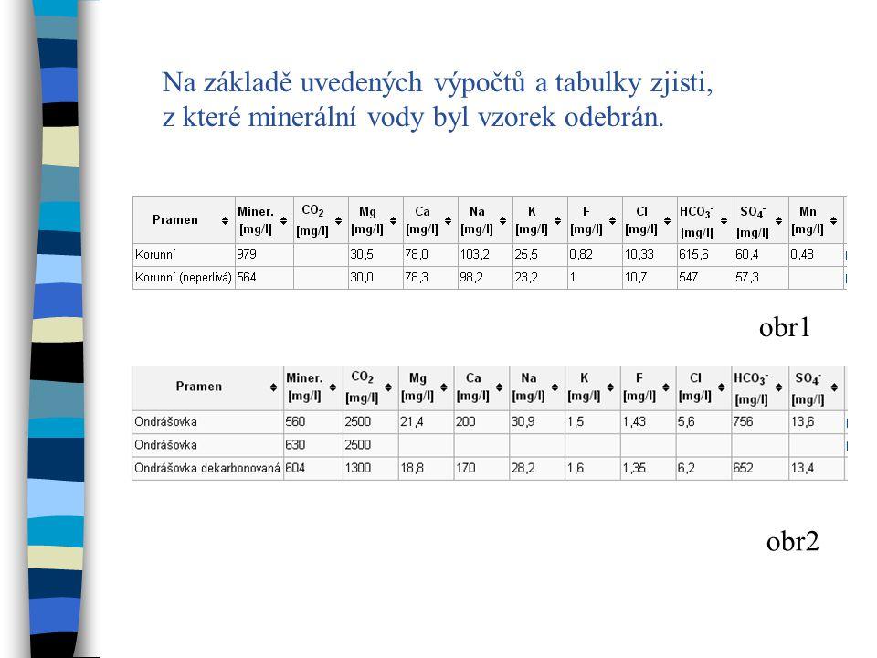 Příklad 3 Zpracováním 1 litru mořské vody jsme získali množství 93,02 g AgCl.