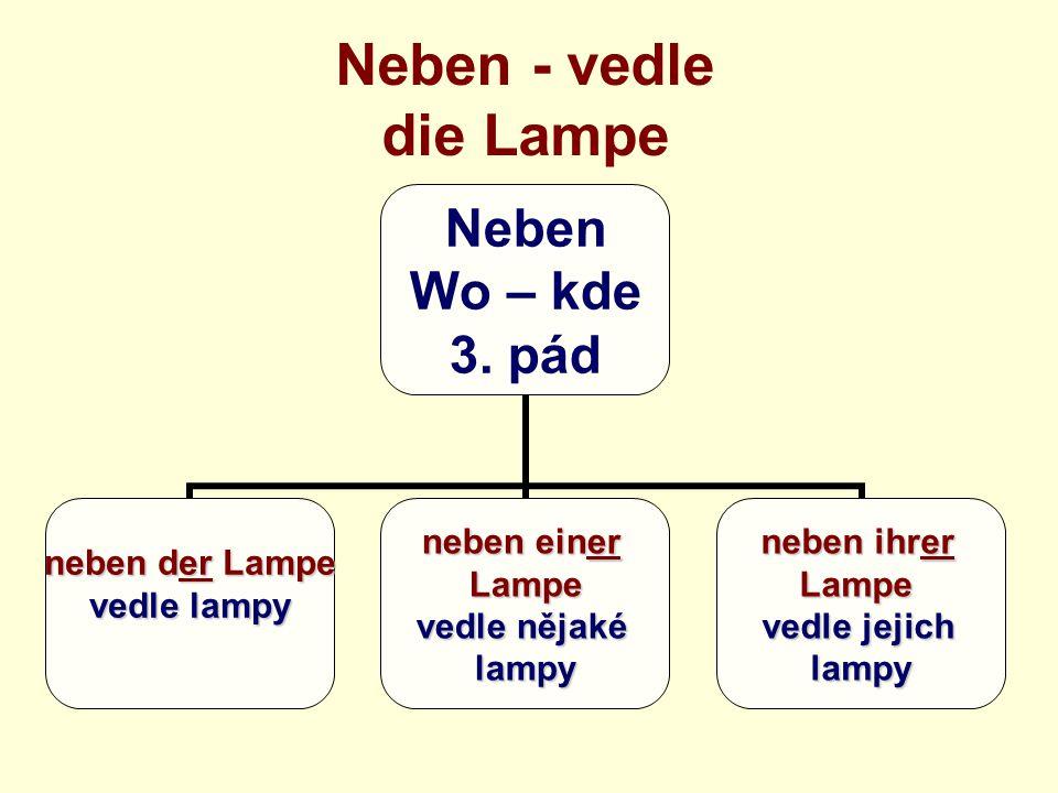 Neben - vedle die Lampe Neben Wo – kde 3.