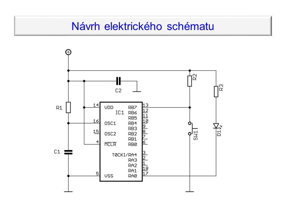 Návrh elektrického schématu